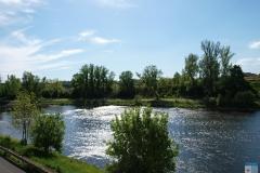 Řeka Ohře u ubytovny